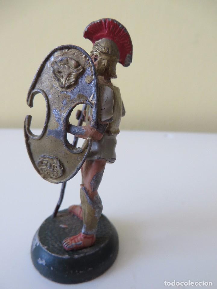 Juguetes Antiguos: DOS FIGURAS centuriónes romanos de PLOMO - Foto 7 - 175701652