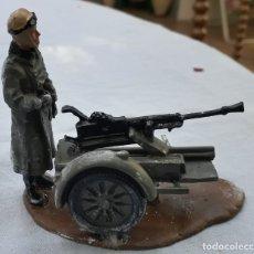Juguetes Antiguos: MINIATURA PLOMO: CAMPAING ARTILLERY REGIMENT NIMBUS MACHINE GUN COL MOTOS SEGUNDA GUERRA MUNDIAL. Lote 222260447