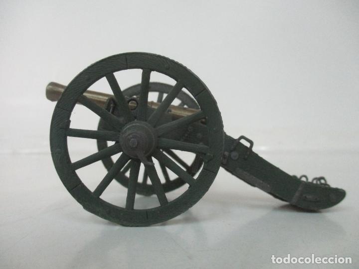 Juguetes Antiguos: Cañón Miniatura Napoleónico - Soldados de Plomo - Foto 3 - 176633172