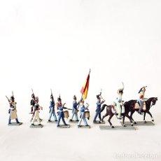 Juguetes Antiguos: 10 FIGURAS DE SANQUEZ 45 MM - FERNANDO VII - SOLDADITO DE PLOMO - 45MM. Lote 176856267