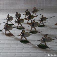 Juguetes Antiguos: SOLDADITOS PLANOS GRIEGOS MACEDONIOS DE ALEJANDRO MAGNO DE LA BATALLA GAUGAMELA CONTRA LOS PERSAS . Lote 178946161
