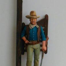 Juguetes Antiguos: JOHN WAYNE (EL DUQUE). PLOMO, 54 MM. PINTADA A MANO EN ALTA CALIDAD.. Lote 182678843
