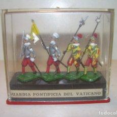 Juguetes Antiguos: SOLDADITOS DE PLOMO.(ALYMER). RICAMENTE DECORADOS.PERFECTO ESTADO DE CONSERVACION.. Lote 182966621
