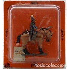 Juguetes Antiguos: SECRETARIO DE LA GUARDIA, CABALLERÍA INGLESA, 1520, DEL PRADO, METAL. BLISTER SELLADO, A ESTRENAR.. Lote 238625530