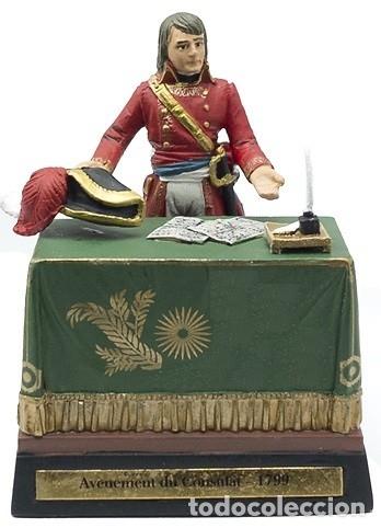 DIORAMA EN PLOMO: NAPOLEÓN EN EL ADVENIMIENTO AL CONSULADO, 1799. EDICIONES COBRA. . A ESTRENAR. (Juguetes - Soldaditos - Soldaditos de plomo)