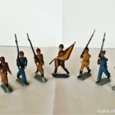 Juguetes Antiguos: SOLDADOS DE PLOMO,7 REGULARES INDIGENAS,AVIACION,ABANDERADO,INFANTERIA,EULOGIO,CAPELL,CASANELLAS,TEO. Lote 191961878
