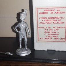 Juguetes Antiguos: SOLDADO DE PLOMO, LA GUARDIA PERSONAL DEL REY,. Lote 192519558