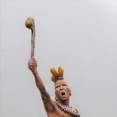 Juguetes Antiguos: GUERRERO PAWNEE. PLOMO, 75 MM. PINTADO A MANO EN ALTA CALIDAD.. Lote 192630470