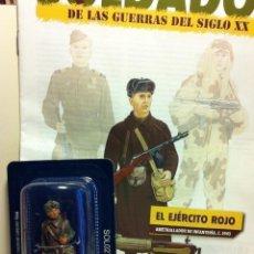 Juguetes Antiguos: DELPRADO --EJÉRCITO ROJO 1943 -AMETRALLADOR - CON SU FASCÍCULO- (UN SOLDADITO). Lote 193206641