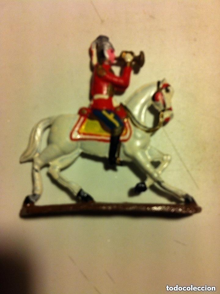 Juguetes Antiguos: soldaditos - trompetista a caballo (figura plana) - muy bien conservado- 6x6,5 cm - Foto 3 - 193559481