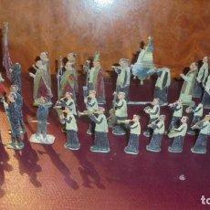 Juguetes Antiguos: ANTIGUA PROCESION DE MONTSERRAT S.XIX EN FIGURAS DE PLOMO 39 FIGURAS , LA MAYORIA EN BUEN ESTADO VER. Lote 193566043