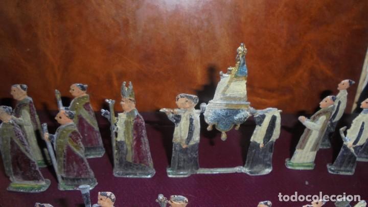 Juguetes Antiguos: ANTIGUA PROCESION DE MONTSERRAT S.XIX EN FIGURAS DE PLOMO 39 FIGURAS , LA MAYORIA EN BUEN ESTADO VER - Foto 3 - 193566043