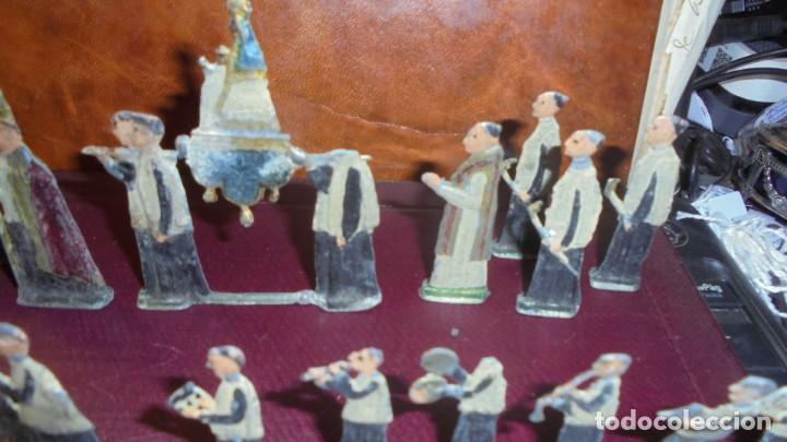 Juguetes Antiguos: ANTIGUA PROCESION DE MONTSERRAT S.XIX EN FIGURAS DE PLOMO 39 FIGURAS , LA MAYORIA EN BUEN ESTADO VER - Foto 4 - 193566043