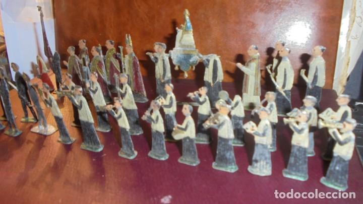 Juguetes Antiguos: ANTIGUA PROCESION DE MONTSERRAT S.XIX EN FIGURAS DE PLOMO 39 FIGURAS , LA MAYORIA EN BUEN ESTADO VER - Foto 10 - 193566043