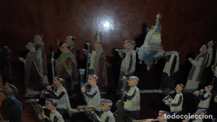 Juguetes Antiguos: ANTIGUA PROCESION DE MONTSERRAT S.XIX EN FIGURAS DE PLOMO 39 FIGURAS , LA MAYORIA EN BUEN ESTADO VER - Foto 11 - 193566043