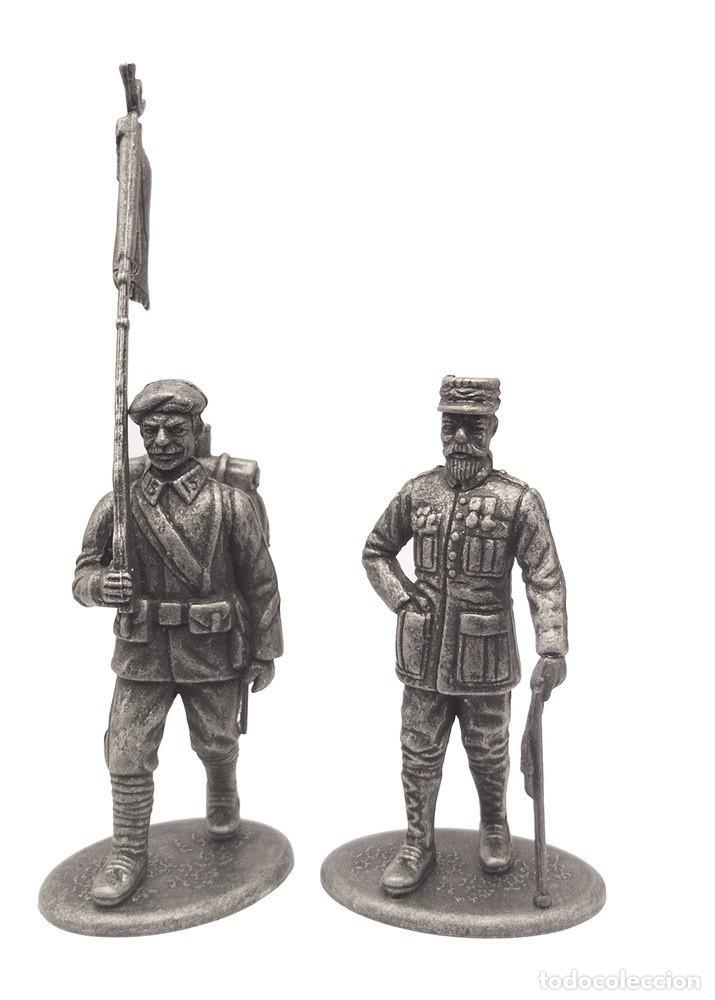 SET DE FIGURAS EN PLOMO, GENERAL GORAUD Y CAZADOR ALPINO, 1:24, COLECCIÓN 1914-18 (Juguetes - Soldaditos - Soldaditos de plomo)