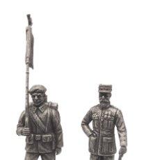 Juguetes Antiguos: SET DE FIGURAS EN PLOMO, GENERAL GORAUD Y CAZADOR ALPINO, 1:24, COLECCIÓN 1914-18. Lote 193624017