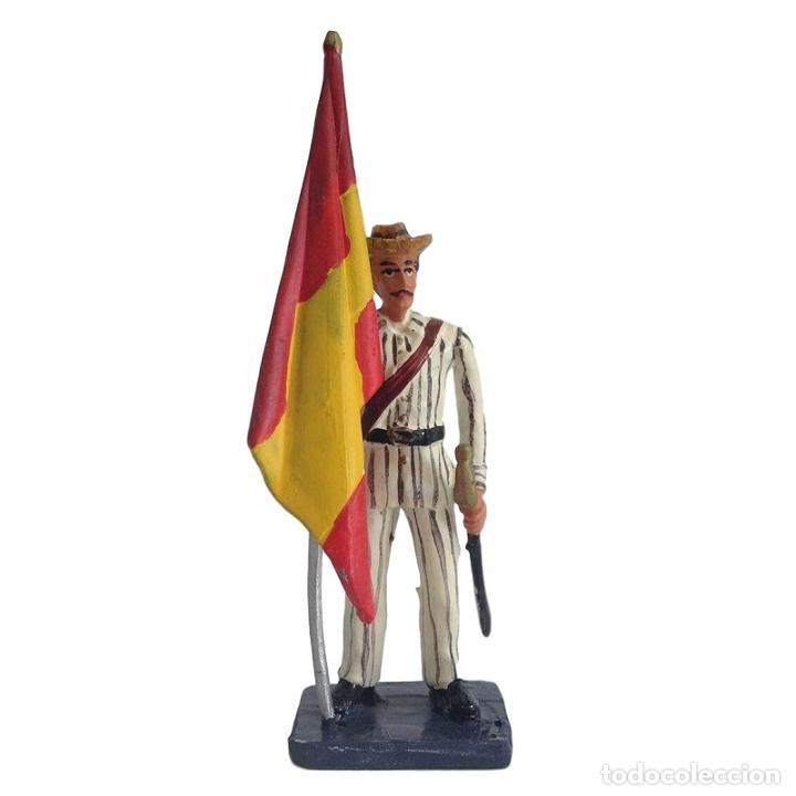 ABANDERADO DE INFANTERIA RAYADILLO CUBA FILIPINAS 1898 55 MM ALYMER FIGURA #7 (Juguetes - Soldaditos - Soldaditos de plomo)