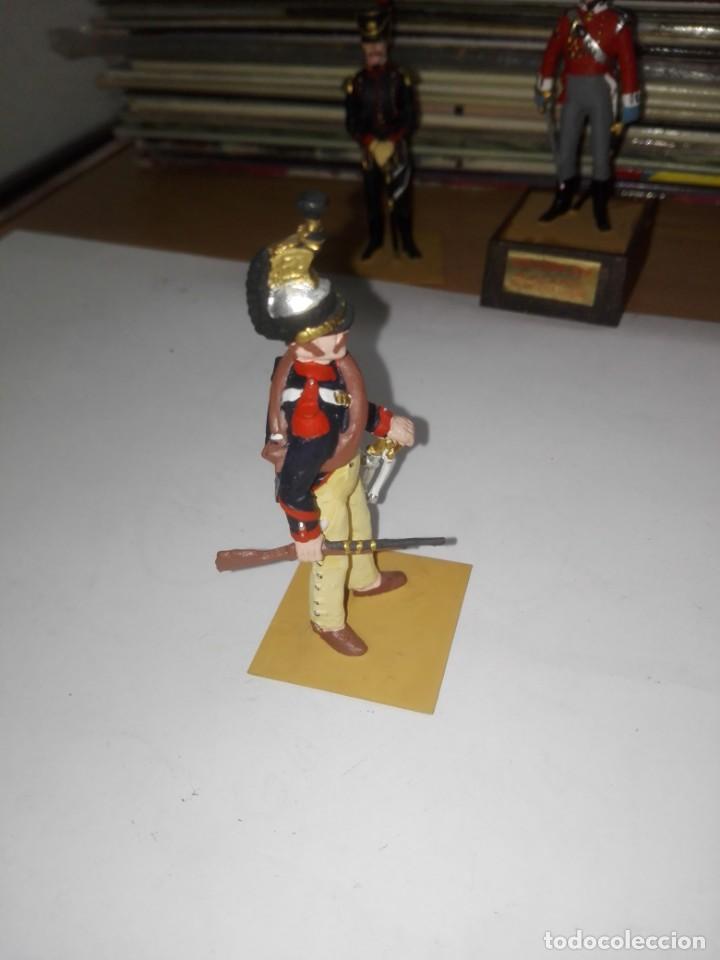 Juguetes Antiguos: Soldado de Plomo - Brigadier Coraceros, Francia - Año 1808 - Pintado a Mano - Marca Soldat sin peana - Foto 2 - 194515913
