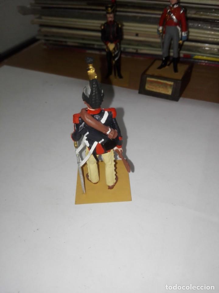 Juguetes Antiguos: Soldado de Plomo - Brigadier Coraceros, Francia - Año 1808 - Pintado a Mano - Marca Soldat sin peana - Foto 3 - 194515913