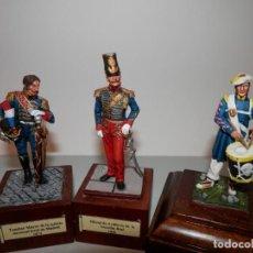 Juguetes Antiguos: X 3 FIGURAS, SOLDADITOS DE PLOMO, ASOCIACION MINIATURISTA MADRID. PINTADOS EN CALIDAD. Lote 194748532