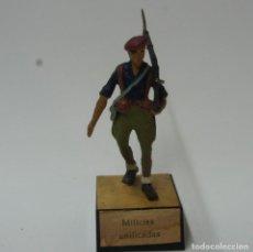 Juguetes Antiguos: SOLDADO DE PLOMO MILICIAS UNIFICADAS -ALMIRALL.. Lote 195227558