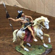 Juguetes Antiguos: FIGURA PLOMO CUSTER'S. BLACK HAWK. CRAZY HORSE. BH-0105. EN CAJA. Lote 195476853