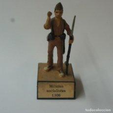 Juguetes Antiguos: SOLDADO DE PLOMO MILICIAS SOCIALISTAS 1936. ALMIRALL.. Lote 195494975