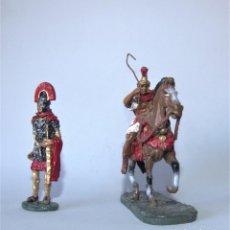 Juguetes Antiguos: SOLDADOS DE PLOMO. DOS LEGIONARIOS ROMANOS.. Lote 197583758