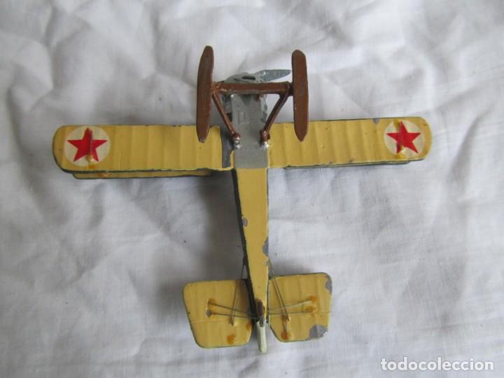 Juguetes Antiguos: Avión de plomo biplano sovietico tren de aterrizaje para nieve N5486 - Foto 8 - 197675802