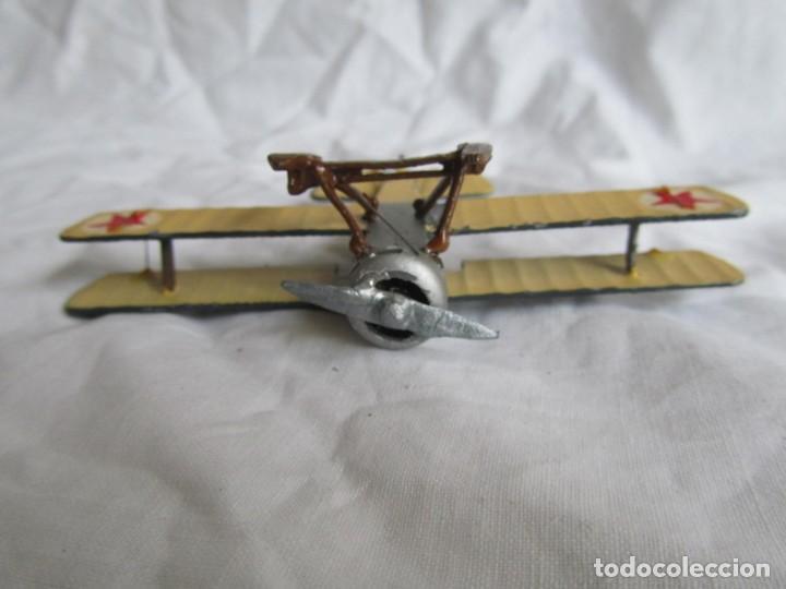 Juguetes Antiguos: Avión de plomo biplano sovietico tren de aterrizaje para nieve N5486 - Foto 10 - 197675802