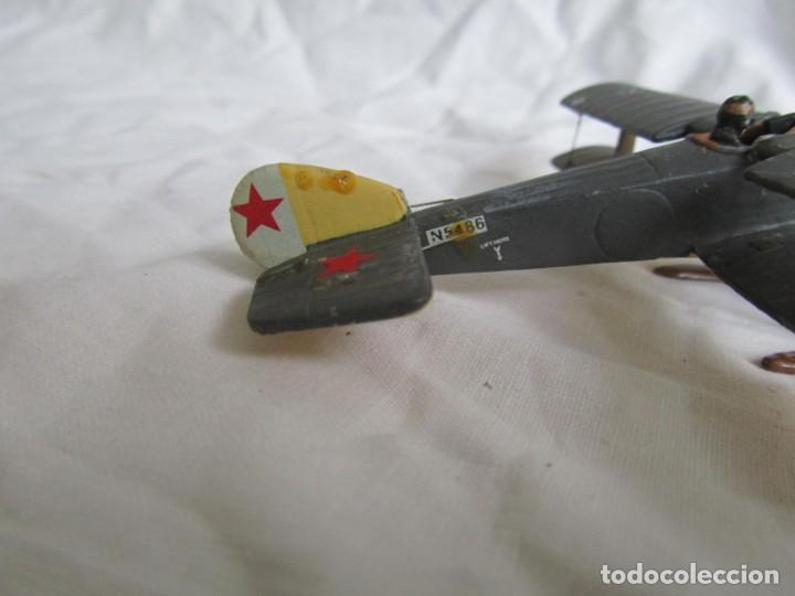 Juguetes Antiguos: Avión de plomo biplano sovietico tren de aterrizaje para nieve N5486 - Foto 12 - 197675802