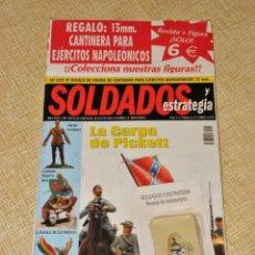 Giochi Antichi: SOLDADOS Y ESTRATEGIA AÑO 1 Nº 4 - 2002 REVISTA + FIGURA PLOMO CANTINERA EJERCITO NAPOLEÓN 15 MM.. Lote 198153790