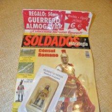 Giochi Antichi: SOLDADOS Y ESTRATEGIA AÑO 1 Nº 6 - 2002 REVISTA + FIGURA PLOMO GUERRERO ALMOGAVAR 54 MM.. Lote 245988220