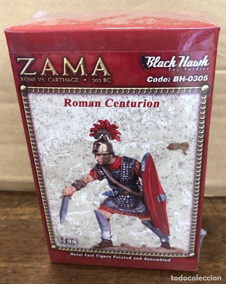 SOLDADO PLOMO BATALLA ZAMA. ROME VS CARTHAGE. BLACK HAWK. ROMAN CENTURION. BH-0305 (Juguetes - Soldaditos - Soldaditos de plomo)
