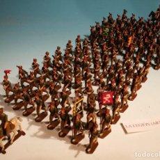 Juguetes Antiguos: ARTILLERÍA DE LA LEGION SANQUEZ 115 SOLDADOS PLOMO MADRID MUY RARO. Lote 198596170
