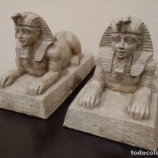 Juguetes Antiguos: KING & COUNTRY -ANCIENT EGYPTIANS- PAREJA DE ESFINGES PAIR OF SPHINX AE018 (DESCATALOGADO) -EGIPTO-. Lote 201667842