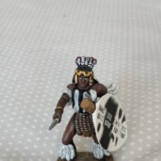 Juguetes Antiguos: 1/32 FRONTLINE ZULU WAR Nº 41, ZULU WARRIOR WITH SPEAR AND SHIELD (BRITAINS, CONTE). Lote 202399001