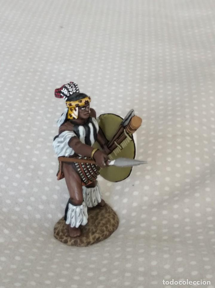 Juguetes Antiguos: 1/32 FRONTLINE ZULU WAR Nº 41, ZULU WARRIOR WITH SPEAR AND SHIELD (BRITAINS, CONTE) - Foto 2 - 202399001