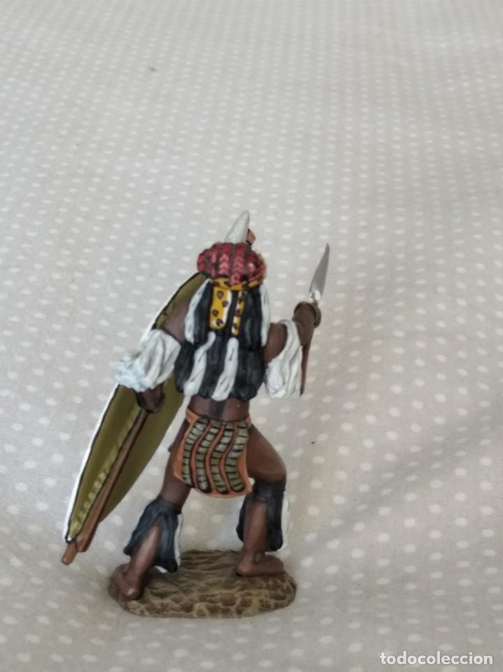 Juguetes Antiguos: 1/32 FRONTLINE ZULU WAR Nº 41, ZULU WARRIOR WITH SPEAR AND SHIELD (BRITAINS, CONTE) - Foto 3 - 202399001