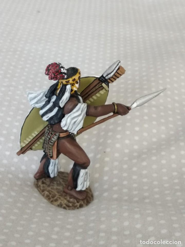 Juguetes Antiguos: 1/32 FRONTLINE ZULU WAR Nº 41, ZULU WARRIOR WITH SPEAR AND SHIELD (BRITAINS, CONTE) - Foto 5 - 202399001