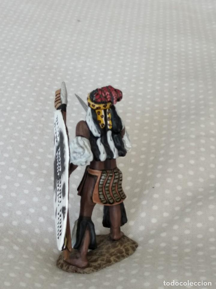 Juguetes Antiguos: 1/32 FRONTLINE ZULU WAR Nº 41, ZULU WARRIOR WITH SPEAR AND SHIELD (BRITAINS, CONTE) - Foto 6 - 202399001