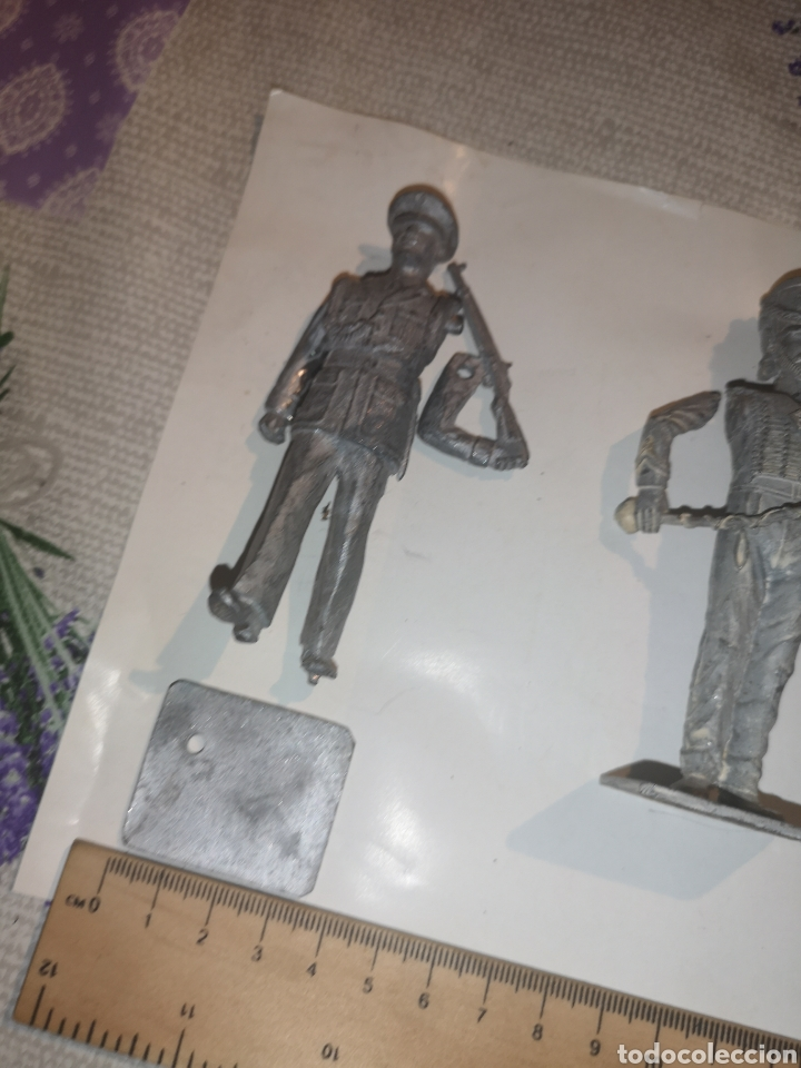 Juguetes Antiguos: Lote de 3 soldaditos de plomo antiguos para montar. - Foto 2 - 202726516