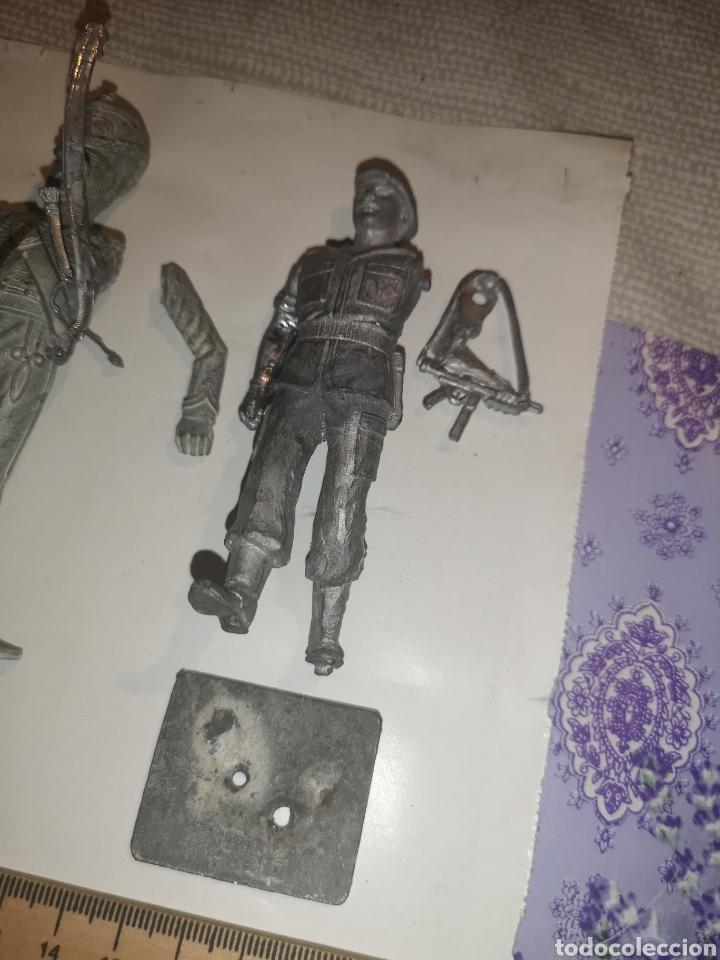 Juguetes Antiguos: Lote de 3 soldaditos de plomo antiguos para montar. - Foto 4 - 202726516