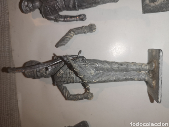 Juguetes Antiguos: Lote de 3 soldaditos de plomo antiguos para montar. - Foto 6 - 202726516