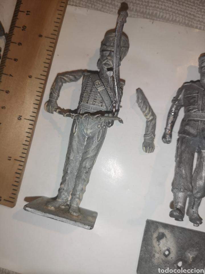 Juguetes Antiguos: Lote de 3 soldaditos de plomo antiguos para montar. - Foto 10 - 202726516