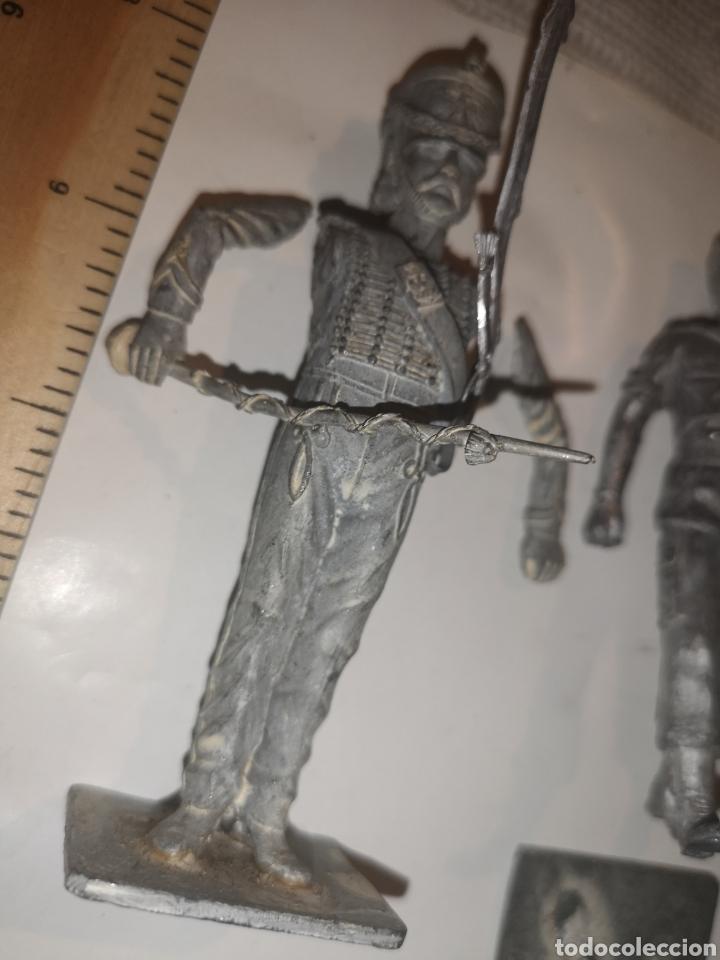 Juguetes Antiguos: Lote de 3 soldaditos de plomo antiguos para montar. - Foto 11 - 202726516