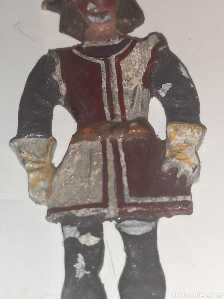 Juguetes Antiguos: Soldarito de plomo escaso raro y difícil de encontrar plano por detrás años 30. - Foto 3 - 202726837