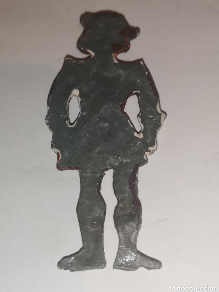 Juguetes Antiguos: Soldarito de plomo escaso raro y difícil de encontrar plano por detrás años 30. - Foto 4 - 202726837