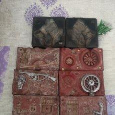 Juguetes Antiguos: LOTE DE 4 MOLDES PARA SOLDADITOS DE PLOMO.. Lote 204276548